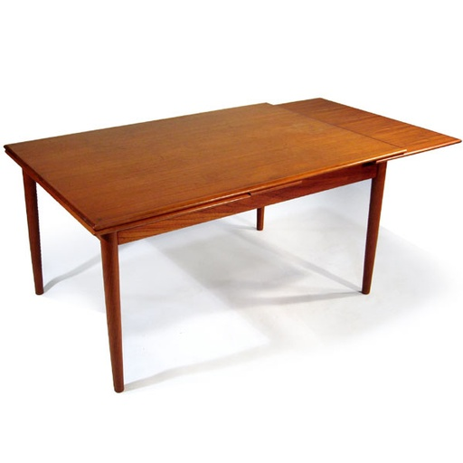 Teak Extension Dining Table with Pull-Out Leaves by Bernhard Pedersen and Son