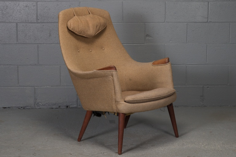 """Mama Bear"" Style Danish Lounge Chair"