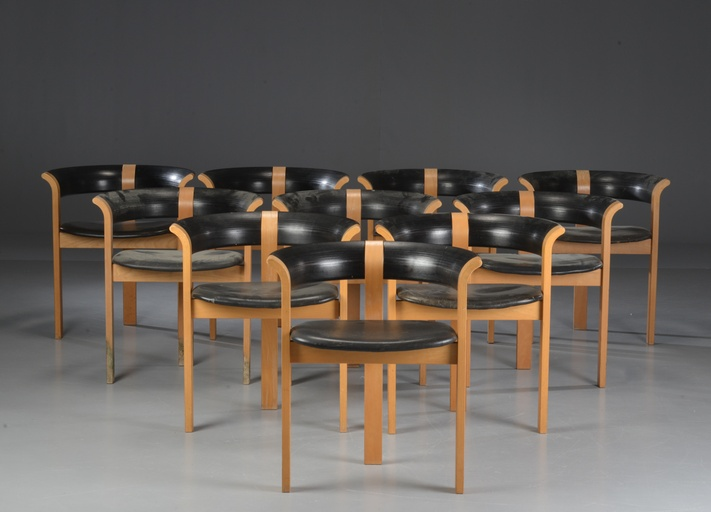 Set of Ten Model 4551 Armchairs by Thygesen & Sørensen for Magnus Olesen