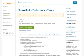Image of Will with testamentary discretionary trusts from Cleardocs | Review