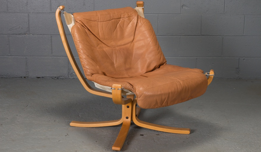 Pair of Falcon Chairs by Sigurd Ressell for Vatne Mobler, Norway, Scandinavian bentwood sling chair