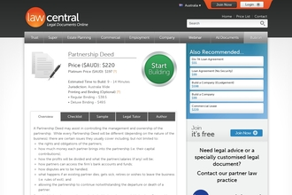 Image of Partnership Deed from Law Central | Review