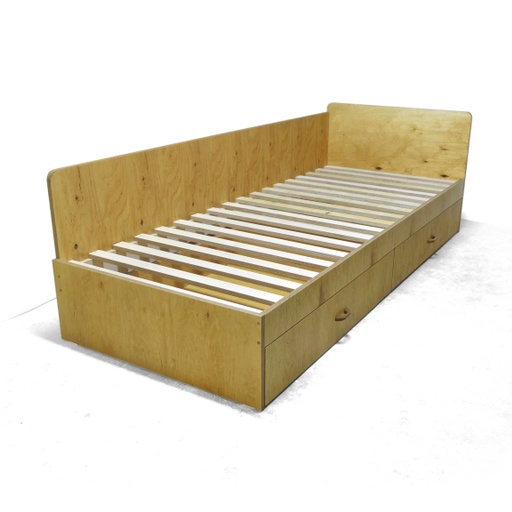 Single bed with drawers nuotrauka