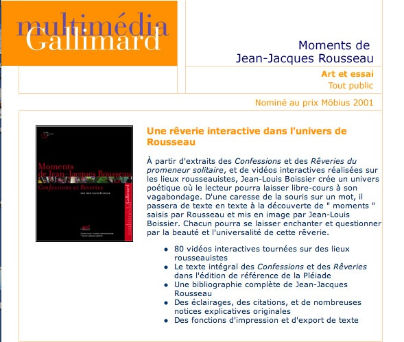 Moments de Jean-Jacques Rousseau
