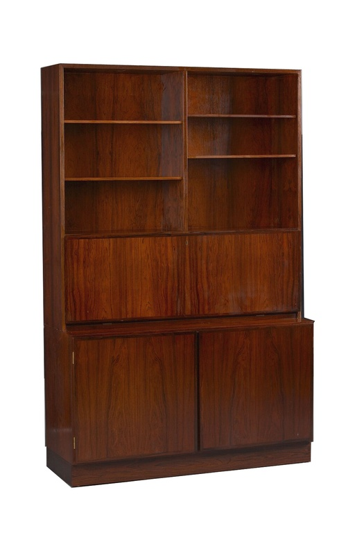 Rosewood Wall Unit and Desk by Omann Jun
