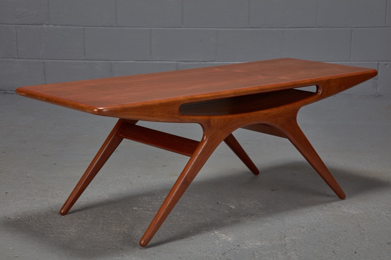 Teak Smile Coffee Table by Johannes Andersen for CFC Silkeborg