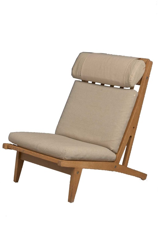 Pair of GE375 Highback Lounge Chairs by Hans Wegner for Getama