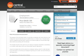 Image of Employment - Termination Letter from Law Central | Review