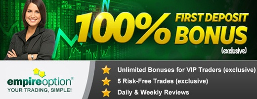 Epire Option Binary broker bonus free trades