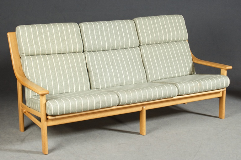 High Back Teak Sofa by Johannes Andersen for CFC Silkeborg