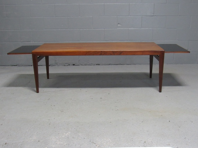 Danish Modern Rosewood Coffee Table with Extensions by Severin Hansen