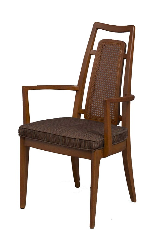 Pair of Captains Dining Chairs attributed to Edward Wormley for Drexel