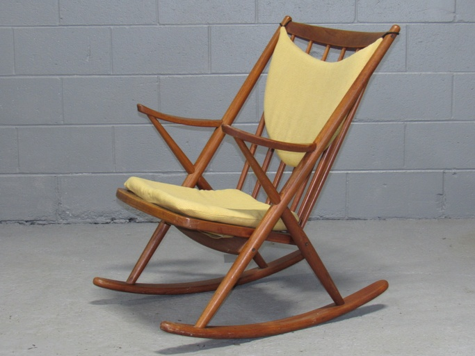 Danish Teak Rocking Chair by Frank Reenskaug for Brahmin