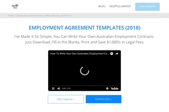 Image of Employment Agreement Template from LegalZebra | Review