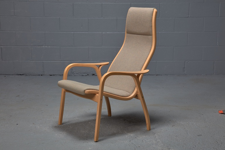 Beech Lamino Lounge Chair by Yngve Ekström for Swedese