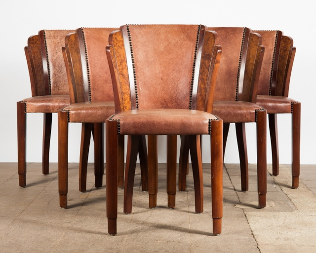 Set of Six Chairs, Art Deco