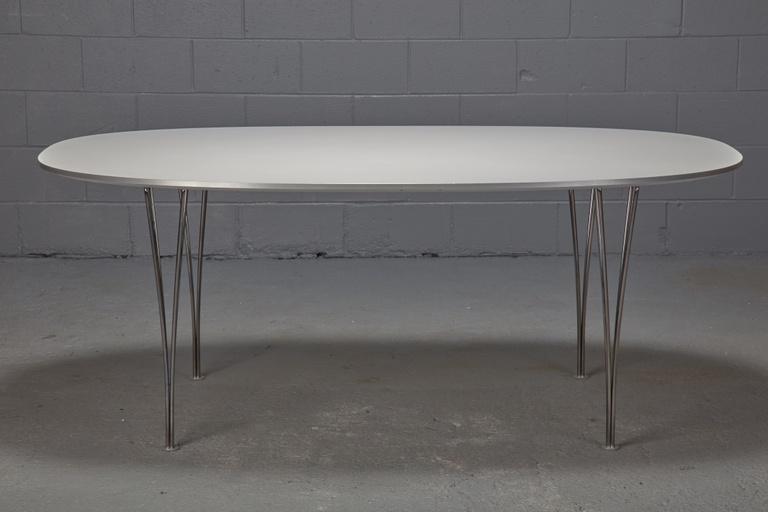 Super Ellipse Table by Piet Hein and Bruno Mathsson for Fritz Hansen