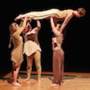 A dance piece performed by a group of students., Photo by John Seyfried
