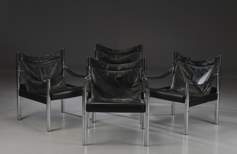 Set of Four Safari Chairs