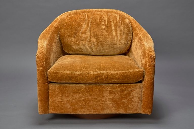 Swivel Tub Chair by Milo Baughman for Thayer Coggin