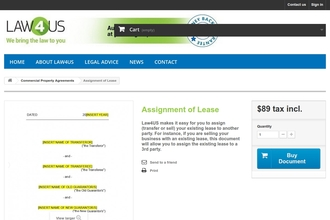 Image of Assignment of Lease from Law4US | Review