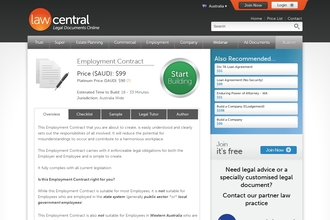 Image of Employment Contract from Law Central | Review