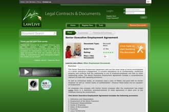 Image of Senior Executive Employment Agreement from LawLive Australia | Review