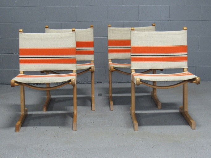 Set of 4 Cantilevered Danish Dining Chairs by Ditte and Adrian Heath for France & Son
