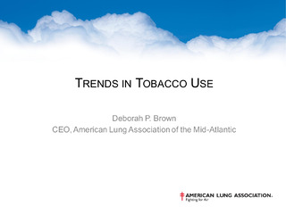 Trends in Tobacco Use