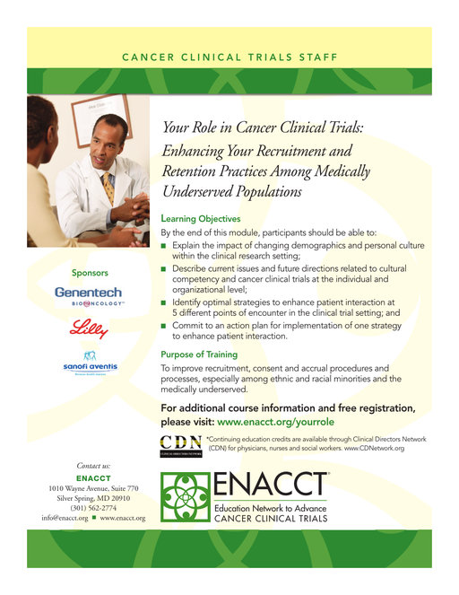 Education — Cancer Clinical Trials
