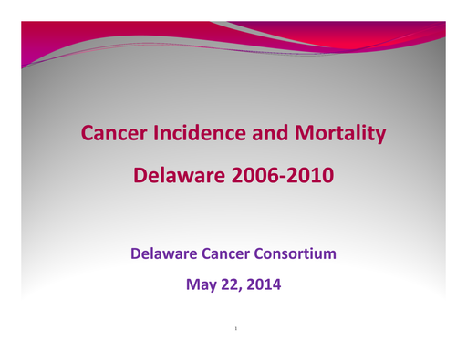 Cancer Incidence and Mortality 2006-2010