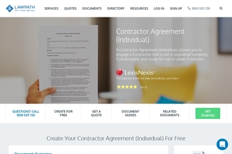 Image of Contractor Agreement (Individual) from LawPath | Review