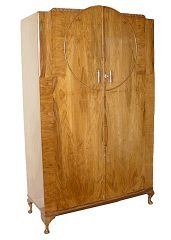 Art Deco Walnut Armoire