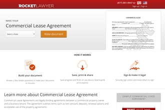 Commercial Lease From Rocket Lawyer Review