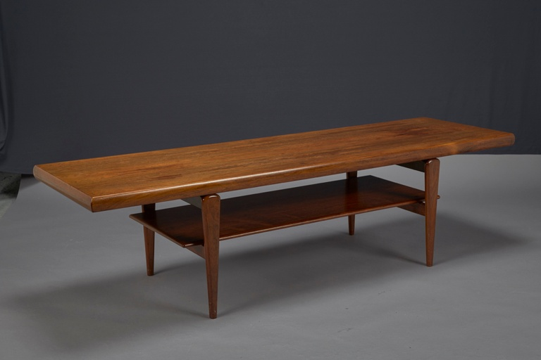 Rosewood Coffee Table with Shelf, Gern Møbelfabrik Denmark