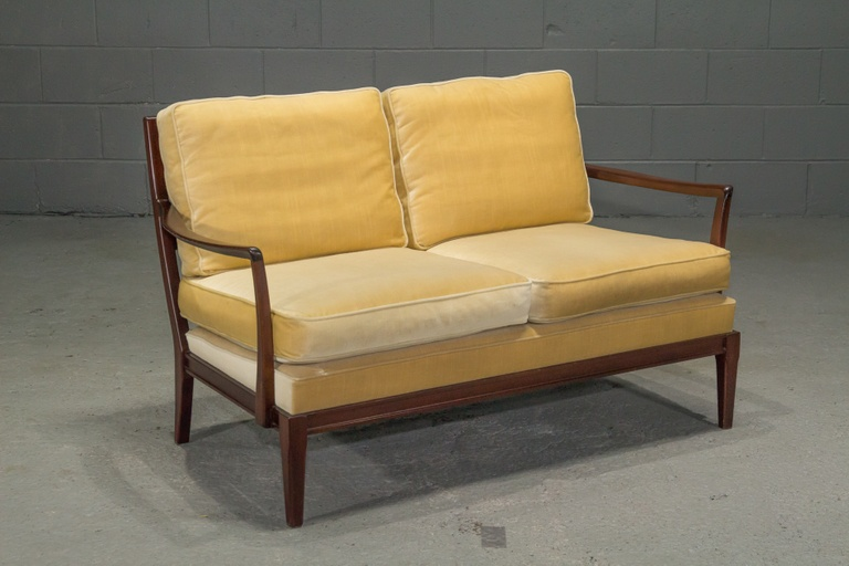 Danish Modern Loveseat with Down Cushions