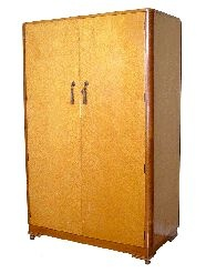 Art Deco Birds Eye Maple Armoire