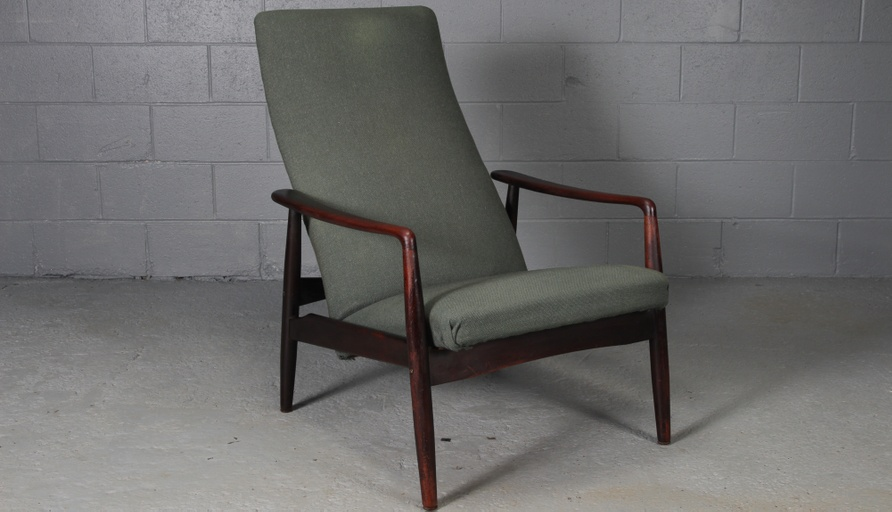Danish Modern Rosewood Lounge Chair by Søren Ladefoged for Sl Mobler