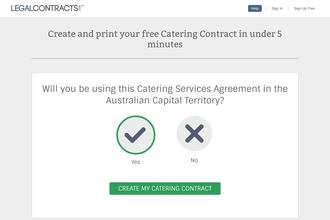 Catering Contract Form from LegalContracts com Australia