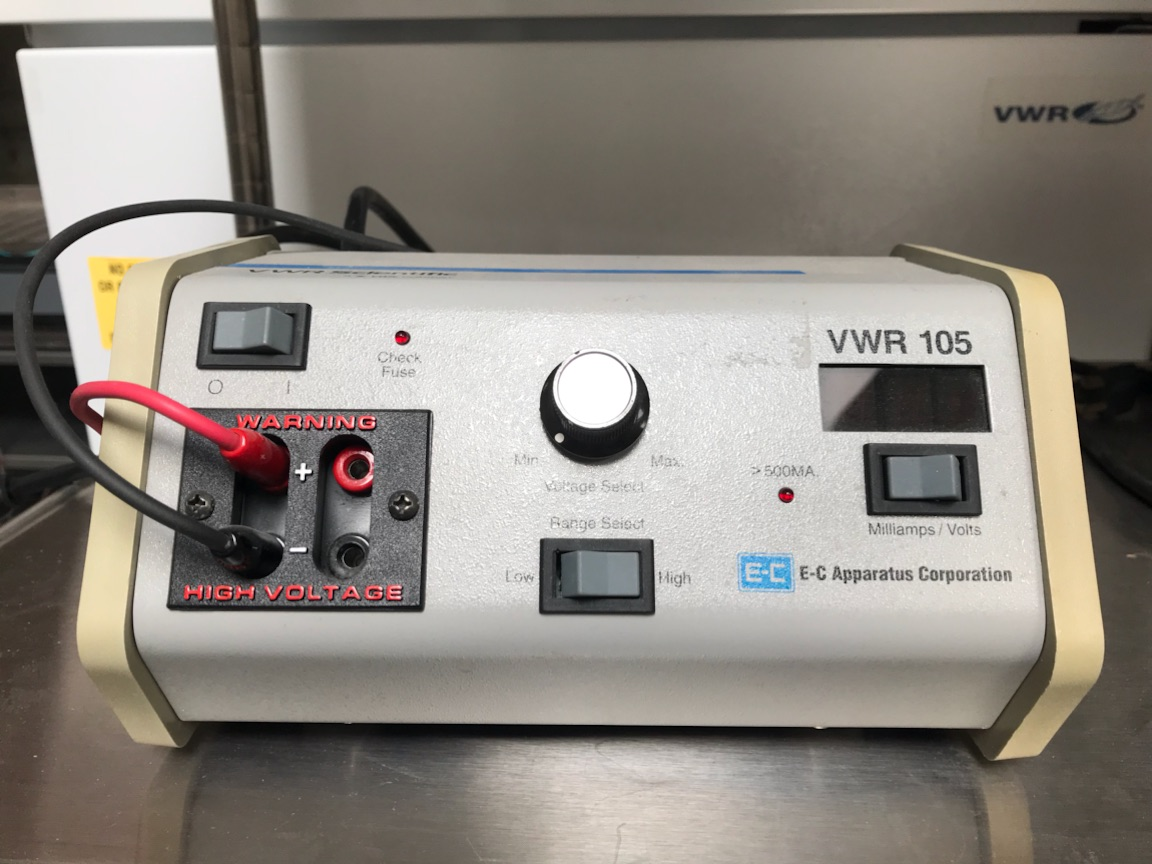 EC Apparatus VWR 105 Electrophoresis Power Supply