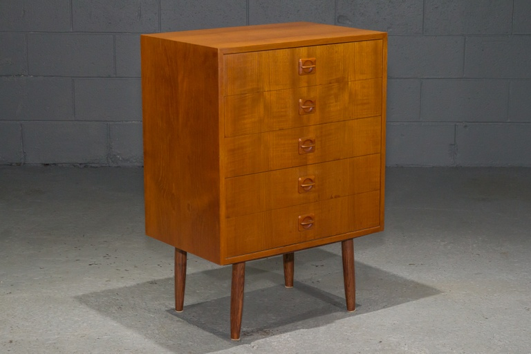 Small Danish Modern Teak Chest of Drawers