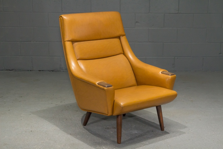 Danish Modern High Back Lounge Chair