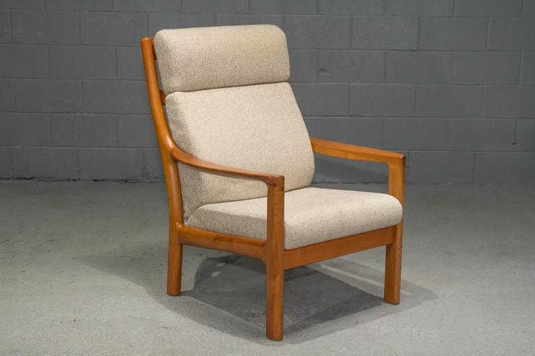 Teak High Back Armchair by Johannes Andersen for CFC Silkeborg