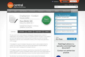 Image of Employment - Conduct Issues Letter from Law Central   Review