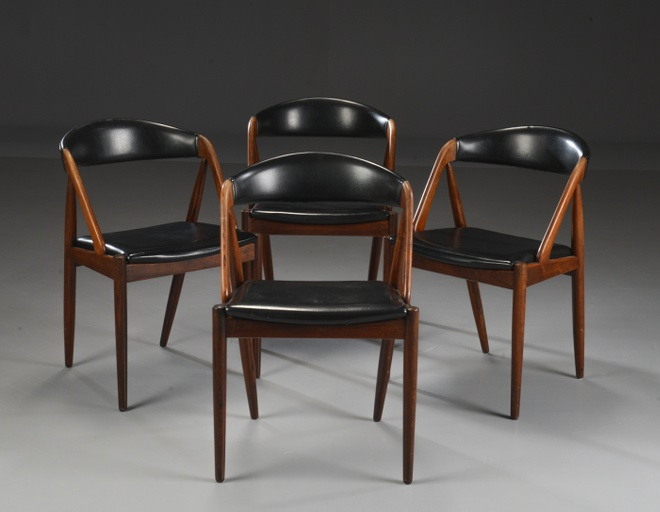 Set of Four Rosewood Dining Chairs by Kai Kristiansen