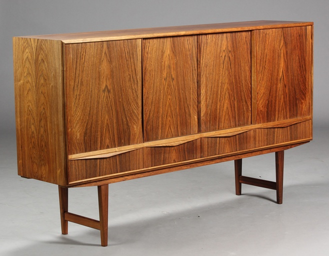 High Rosewood Sideboard by EW Bach for Sejling Skabe