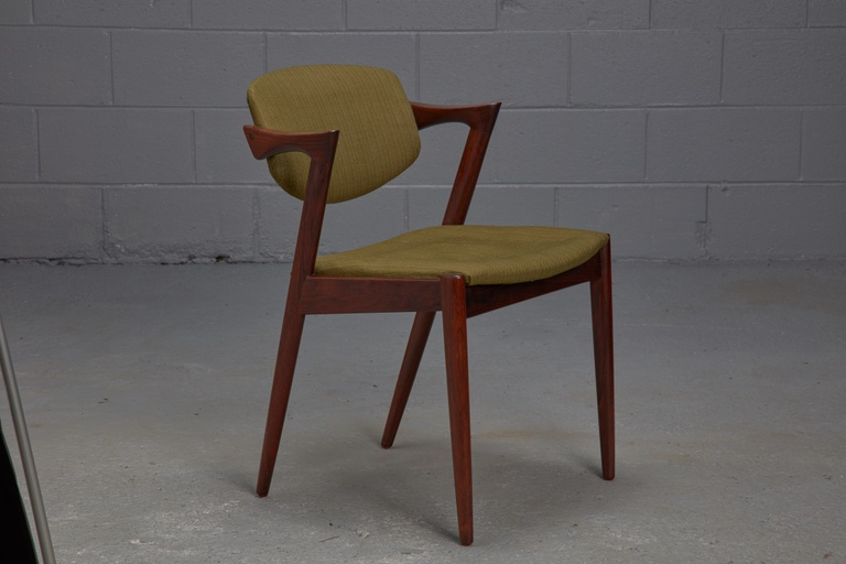 Set of 4 Model 42 Rosewood Dining Chairs by Kai Kristiansen