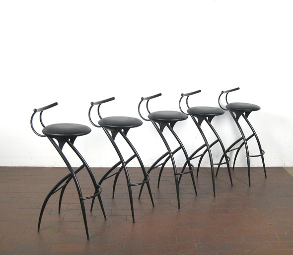 Post Modern Italian Bar Stools- Set of Five