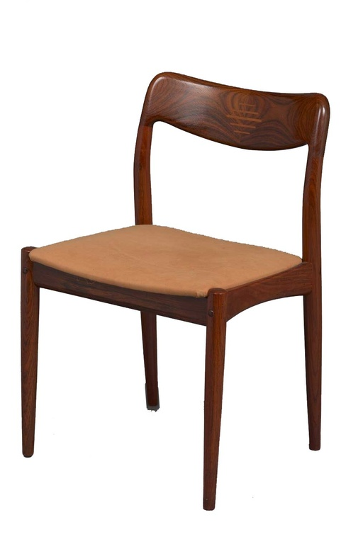 Set of 6 Solid Rosewood Dining Chairs by Niels Moller (??)