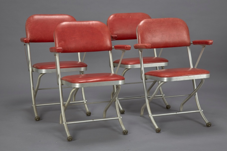 Set of 4 Folding Chairs by Warren McArthur for Mayfair Co.